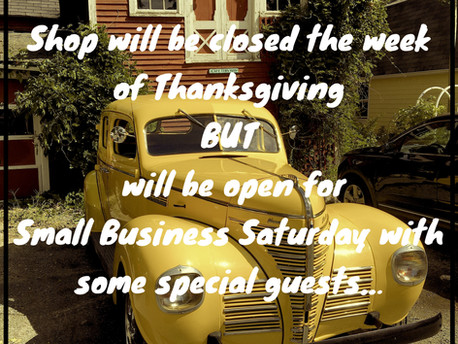 Thanksgiving Weeks Hours