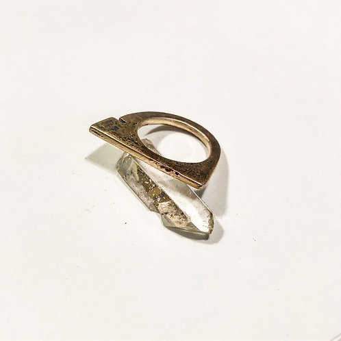 Bronze Flat Stacker Ring