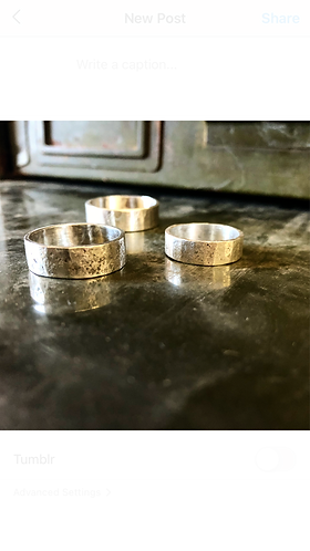 Sterling Silver Hammered Bands