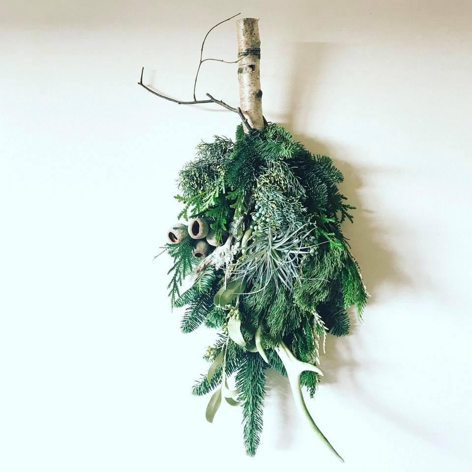 冬の森の壁飾り