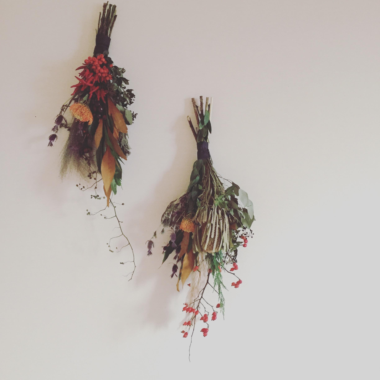 秋色壁飾り