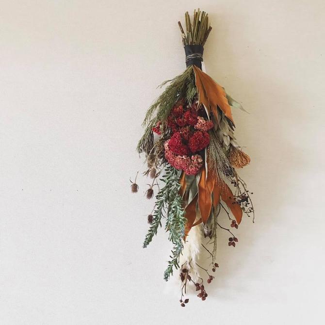 秋の壁飾り @伊勢丹立川店