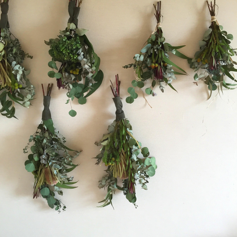 夏の緑の壁飾り
