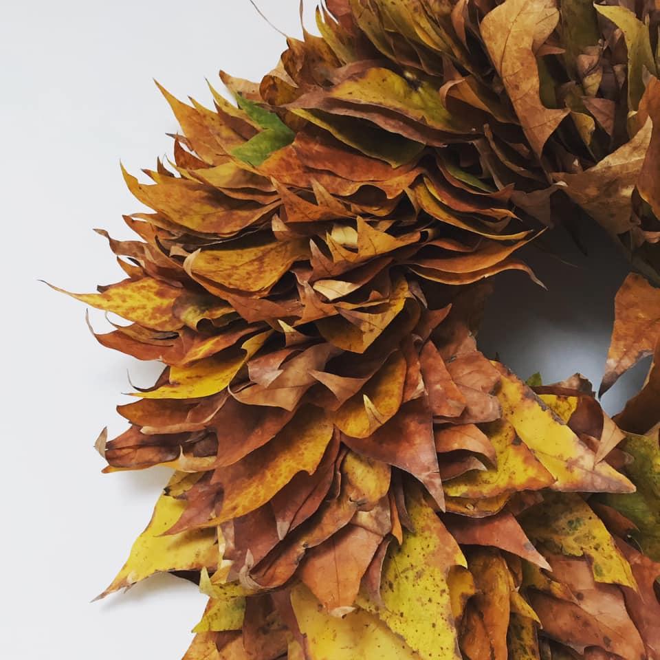 落ち葉のリース