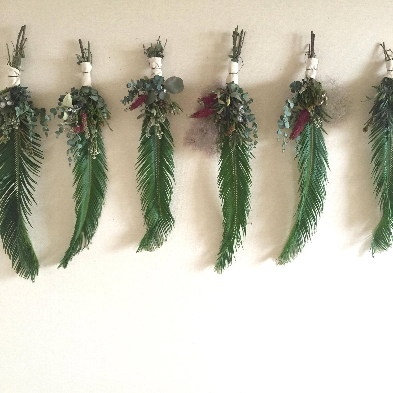 緑の鳥の壁飾り