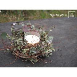 ワークショップ「鳥の巣リースと森の香りキャンドルをつくろう」