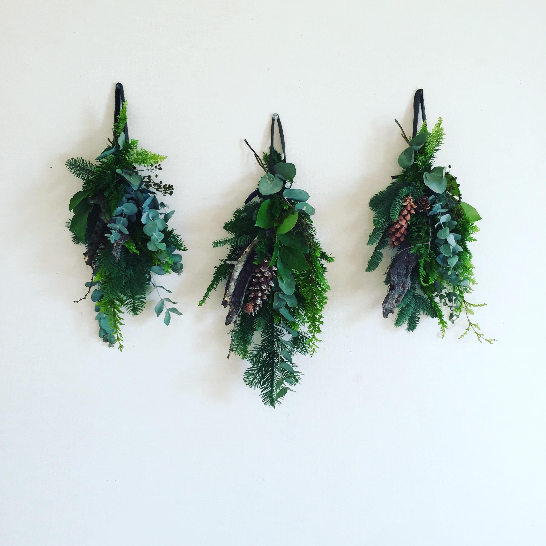 緑の壁飾り