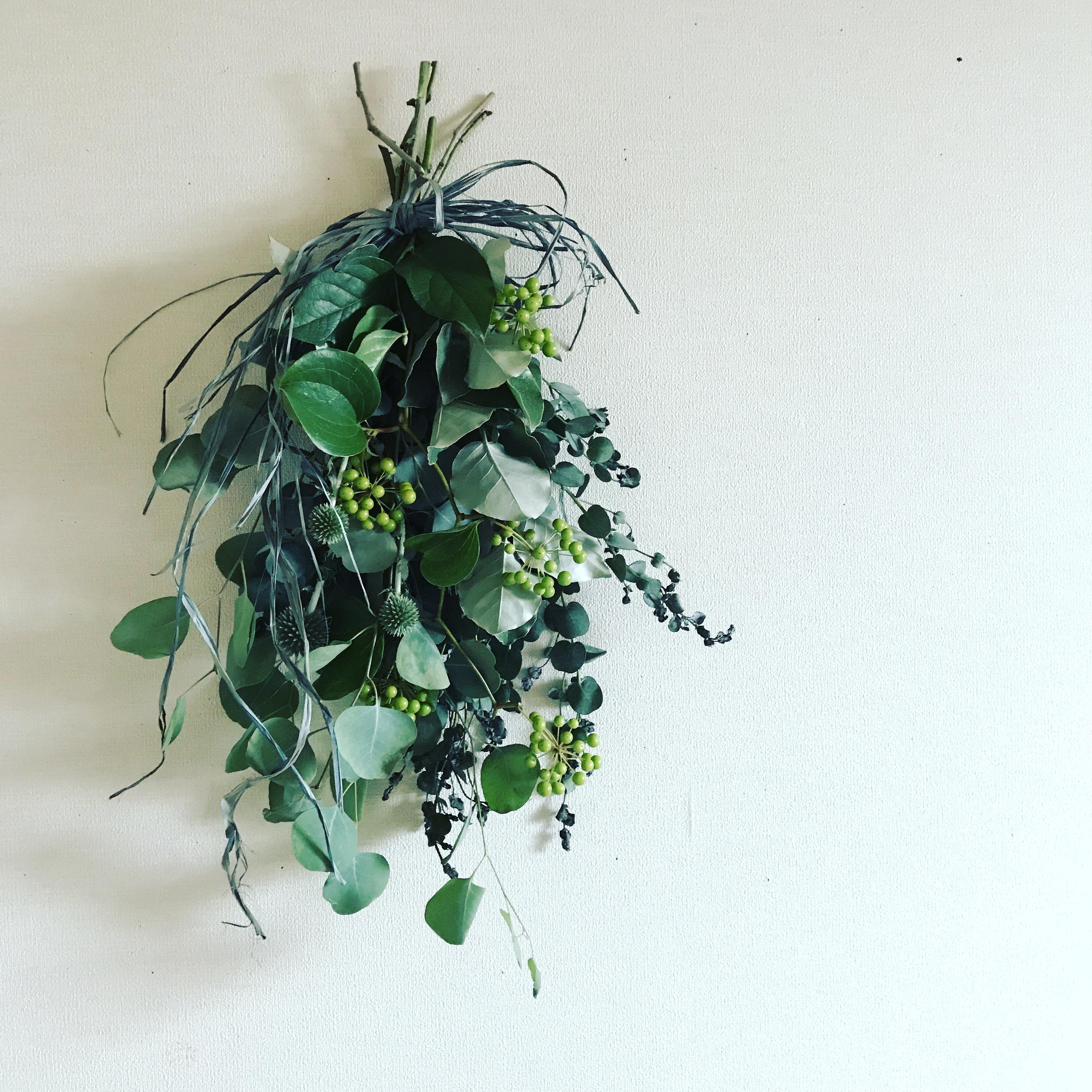 ワークショップ「初夏のグリーンスワッグ作り」