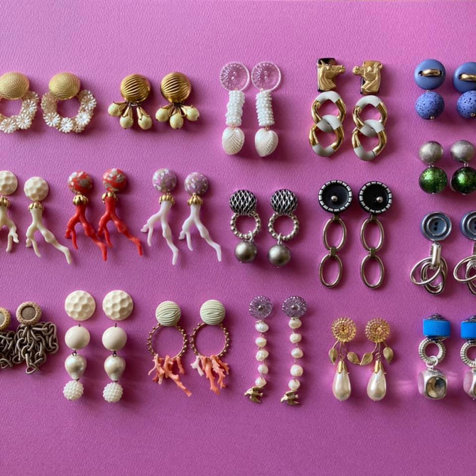 Vintage Buttons Earrings
