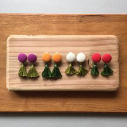 八百屋さん・野菜の耳飾り