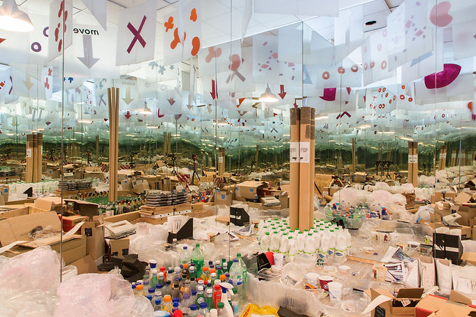 Wasteline Experience Room - the vastness of waste produced in London & the world