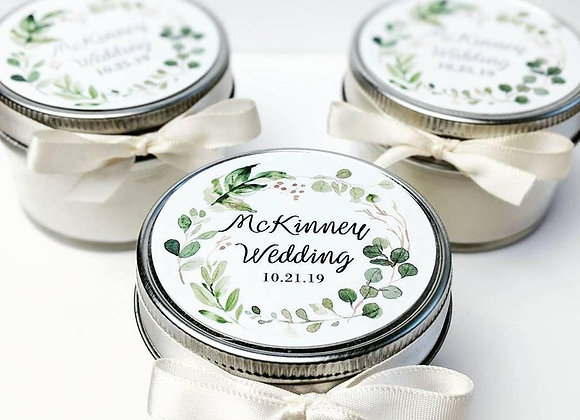 Personalized Mini Gift Candles- Case of 25