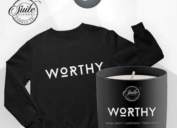 Worthy Bundle (sweatshirt + candle)