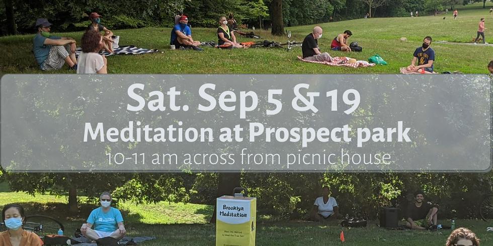 Morning Meditation at Prospect Park Sept 5th Sat 10-11 am