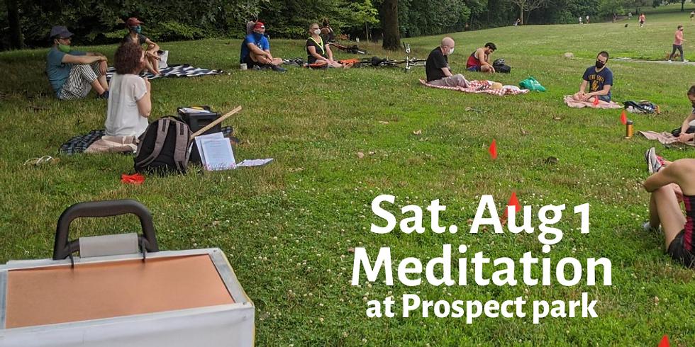 Saturday Morning meditation at Prospect Park