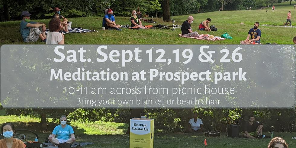 Morning Meditation at Prospect Park Oct 3 Sat 10-11 am