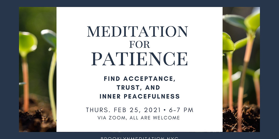 Meditation for Patience