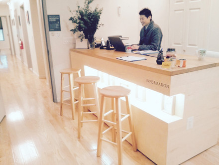 Ben @ the Front Desk. 2015