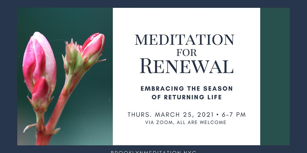 Meditation for Renewal
