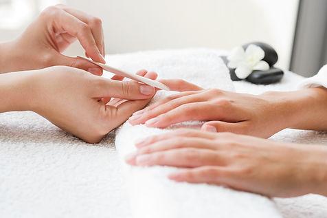 shellac nail manicure
