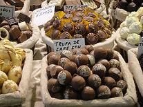 hand made chocolate truffles