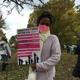 Evanston-Rally-For-Democracy-10_17_20-AHS-photo-Activist Speaker-at Rally-Evanston-Fight-f