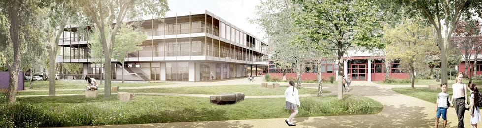 Außenraumperspektive Schulhof