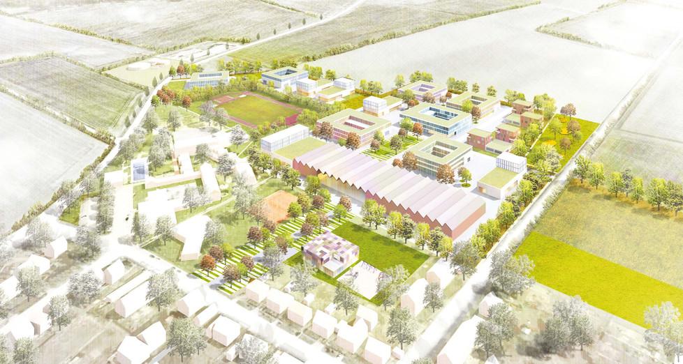 Blick über den neuen Campus