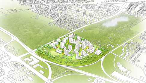 Neues Stadtquartier auf dem Areal der Eggarten-Siedlung I München