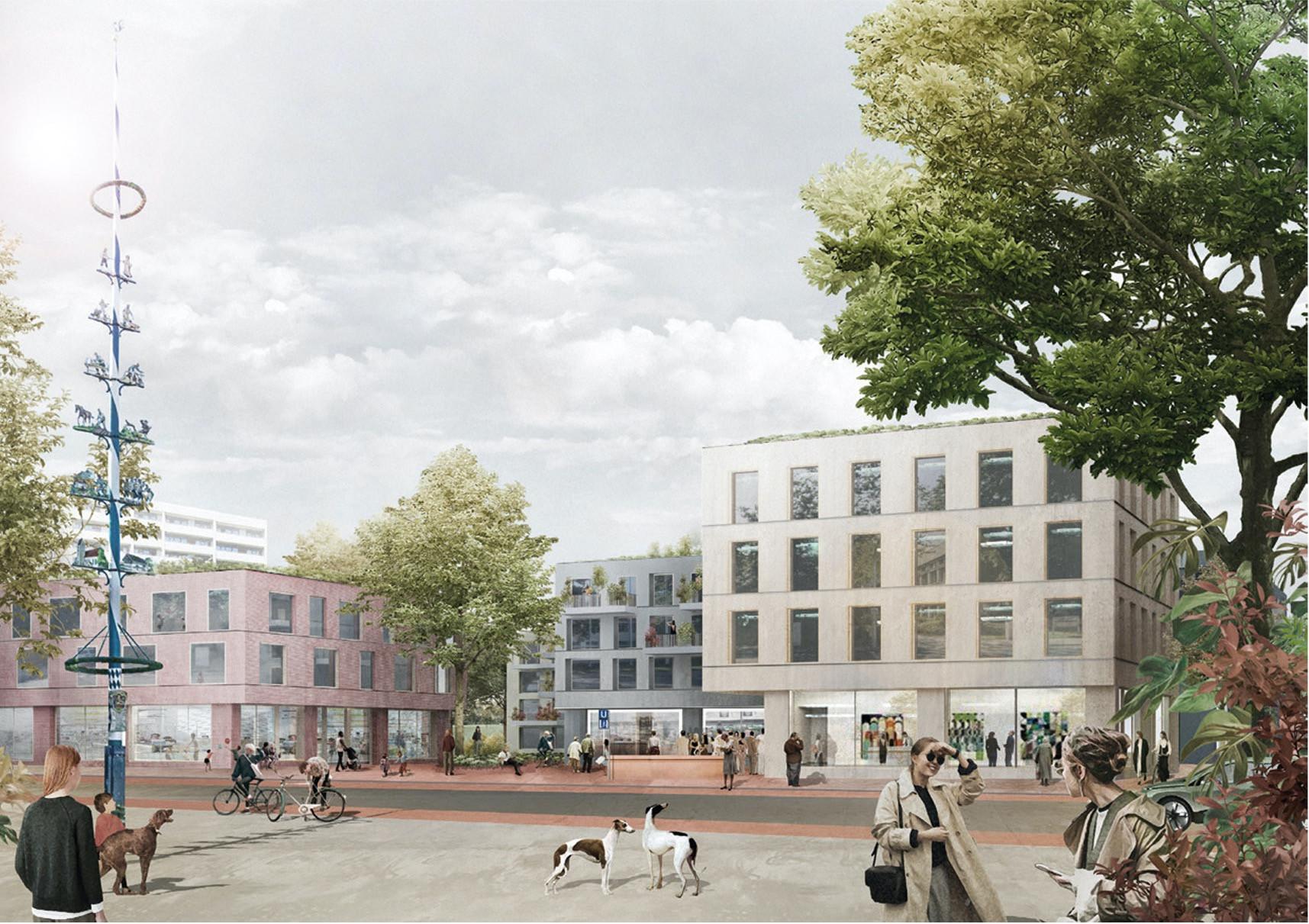 Blick auf das neue Quartier
