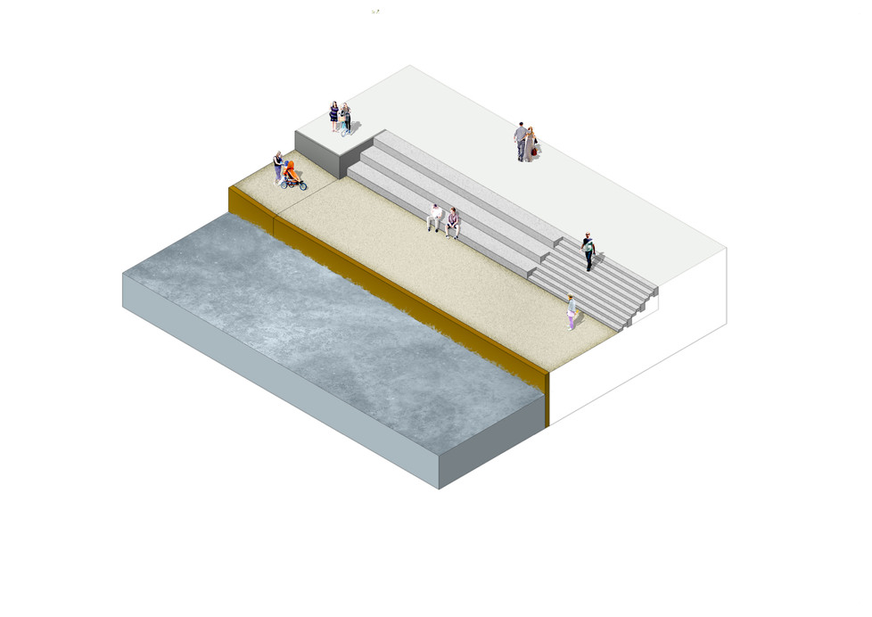 Axonometrie Hafenterrasse