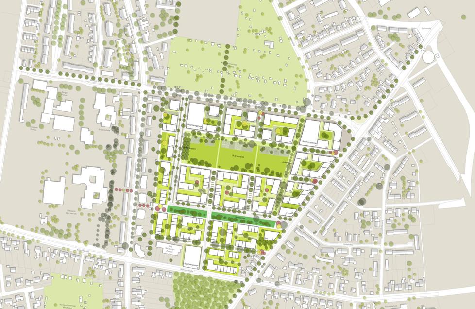 Lageplan Variante Central Park