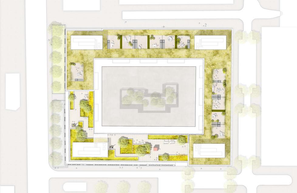 Lageplan Dachaufsicht