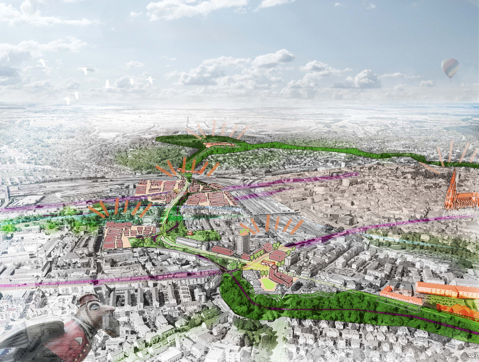 Ideenskizze Landesgartenschau 2030I Ulm
