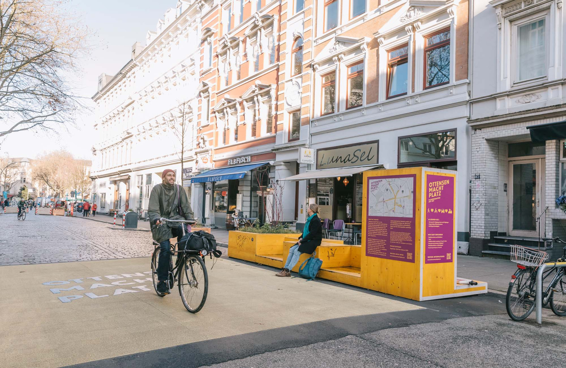 Fahrradfahren und Sitzen