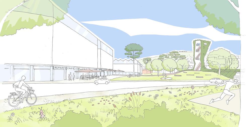 Visualisierung Mittelbastion Park