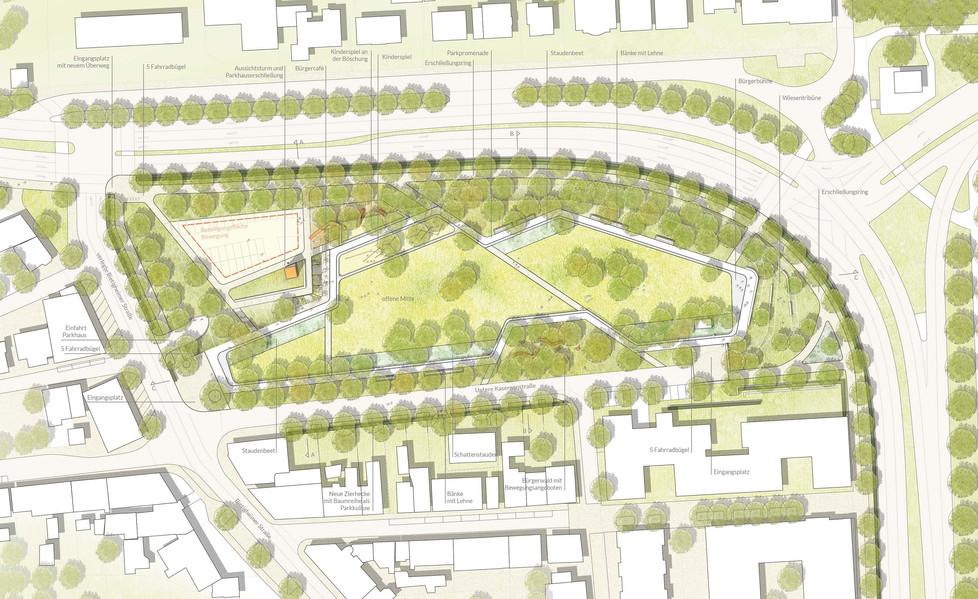Lageplan Walckerpark
