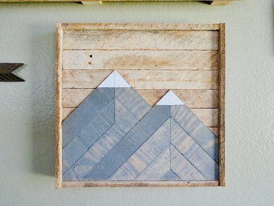 """Two Peak Mountains 12""""x12"""""""