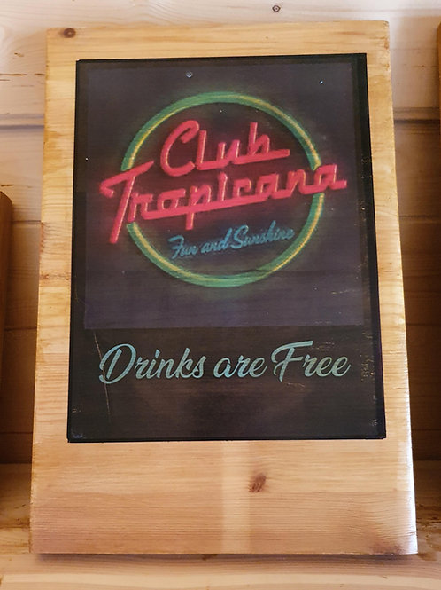 Single sided novelty pub sign