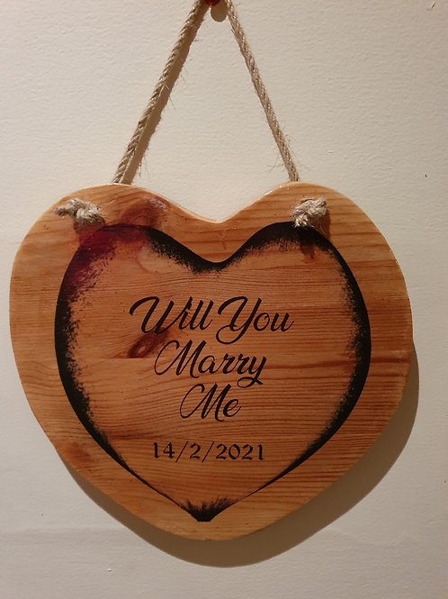 Personalised Heart shaped sign