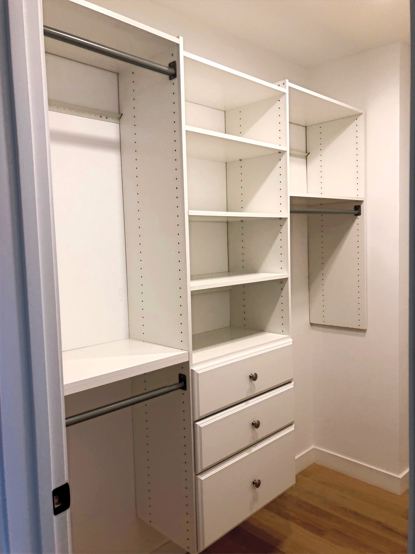 Closet Organizer Assembly, Installation