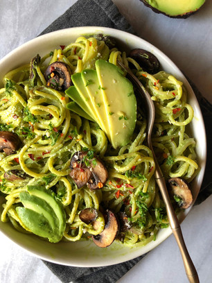 CALIFORNIA AVOCADO ALFREDO PASTA (VEGAN, DAIRY FREE, GLUTEN FREE) *Sponsored by California Avocado C