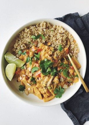 THAI RED COCONUT CURRY W/ CHICKPEAS AND SHROOMS