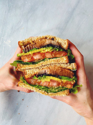 "PORTOBELLO MUSHROOM ""BACON"" BLT-A SANDWICHES"