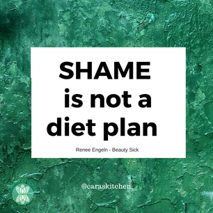 SHAME IS NOT A DIET PLAN