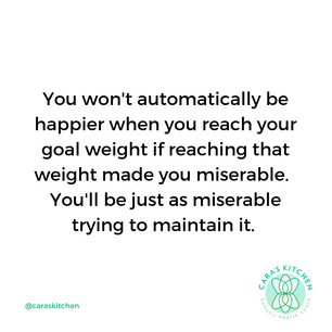 WEIGHT LOSS DOES NOT GUARANTEE HAPPINESS