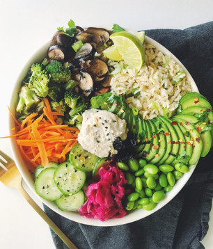 ASIAN INSPIRED BUDDHA BOWL FEATURING LOTUS FOODS