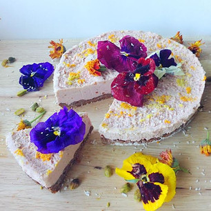 Valentines Day Bouquet Cake with Rosewater and Citrus - Raw, Vegan, Gluten Free. FULL OF LOVE!