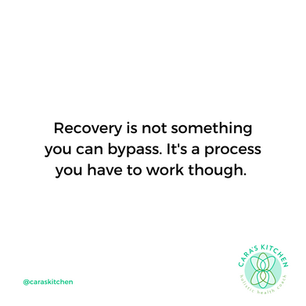 "RECOVERY IS NOT A RACE BUT IF IT WAS ""SLOW AND STEADY"" WOULD WIN"