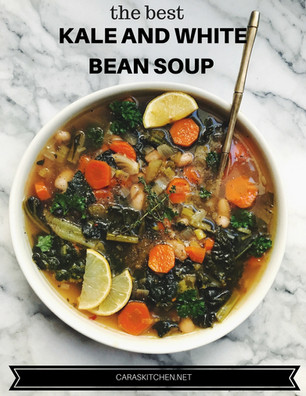 THE BEST (AND EASIEST) KALE AND WHITE BEAN SOUP
